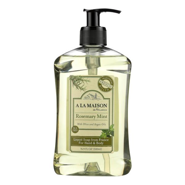 A La Maison French Liquid Soap Rosemary Mint - 16.9 fl oz