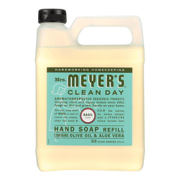 Mrs. Meyer's Liquid Hand Soap Refill - Basil - 33 lf oz