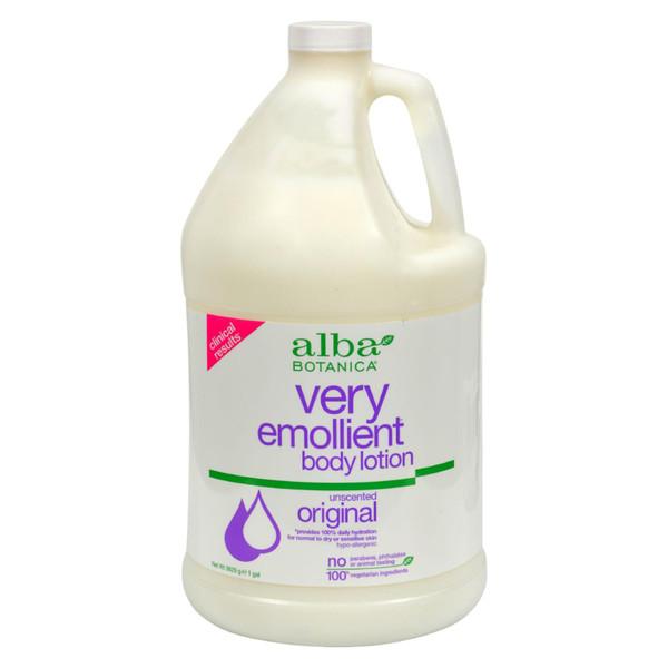 Alba Botanica Very Emollient Body Lotion Original Unscented - 1 Gallon