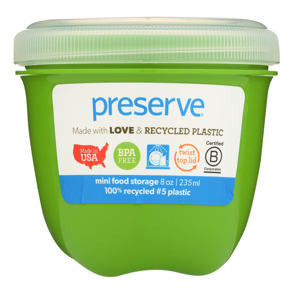 Preserve Food Storage Container - Apple Green - Case of 12 - 8 oz