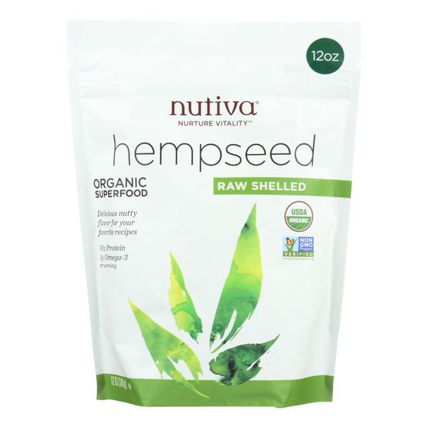 Nutiva Hempseed - Organic - Shelled - 12 oz