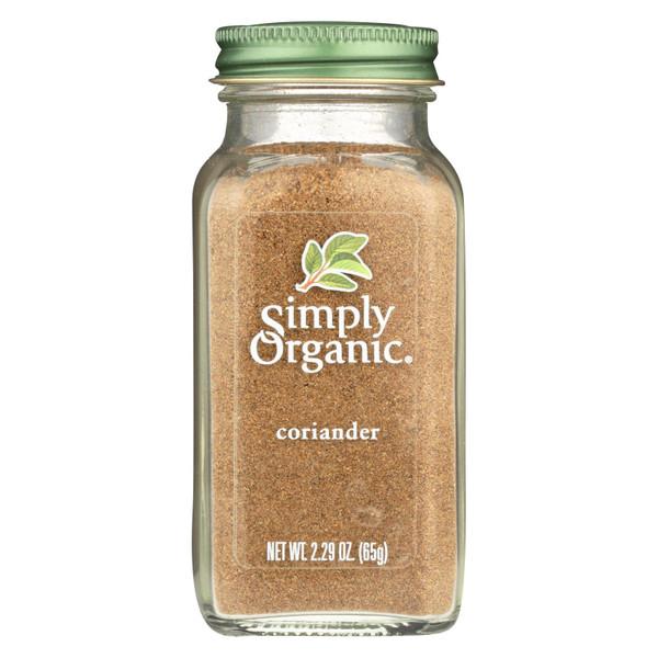 Simply Organic Coriander Seed - Organic - Ground - 2.29 oz