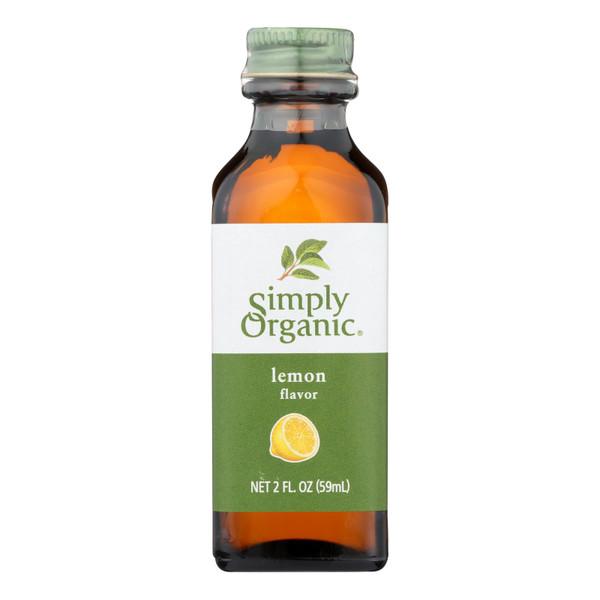 Simply Organic Lemon Flavor - Organic - 2 oz