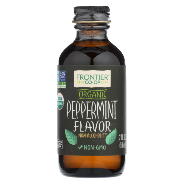 Frontier Herb Peppermint Flavor - Organic - 2 oz