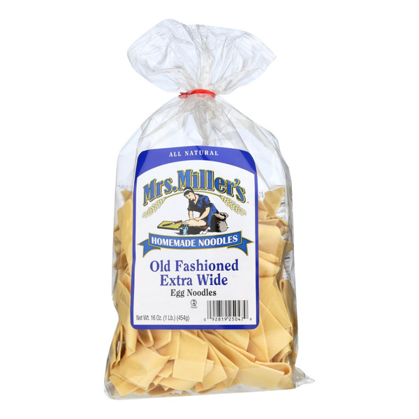 Mrs. Miller's Homemade Noodles - Old Fashioned Extra Wide Egg Noodles - Case of 6 - 16 oz. on  Appalachian Organics
