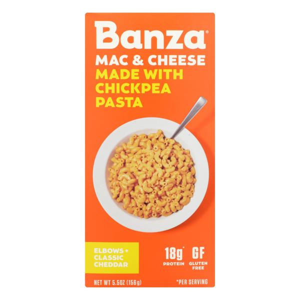 Banza - Chickpea Pasta Mac and Cheese - Classic Cheddar - Case of 6 - 5.5 oz. on  Appalachian Organics
