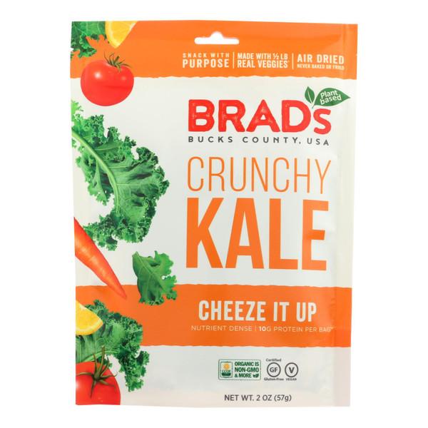 Brad's Plant Based - Crunchy Kale - Cheeze It Up - Case of 12 - 2 oz.