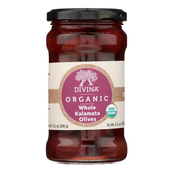 Divina - Organic Kalamata Olives - Case of 6 - 6.35 oz.