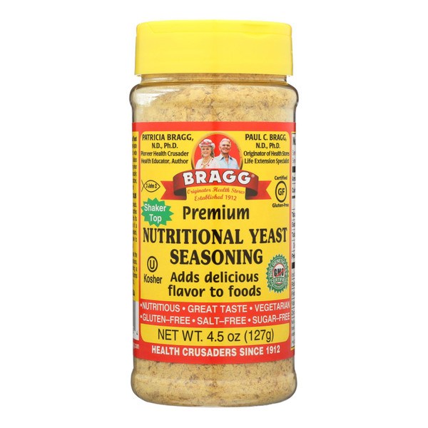 Bragg - Seasoning - Nutritional Yeast - Premium - 4.5 oz - case of 12