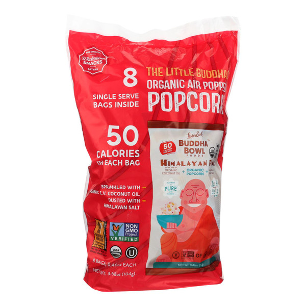 Lesser Evil Organic Air Popped Popcorn - Himalayan Pink - Case of 12 - 8/.46 oz