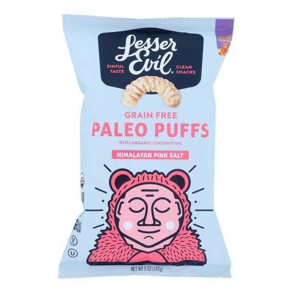 Lesser Evil Puffs - Crunchy Himalayan Salt - Case of 9 - 5 oz.