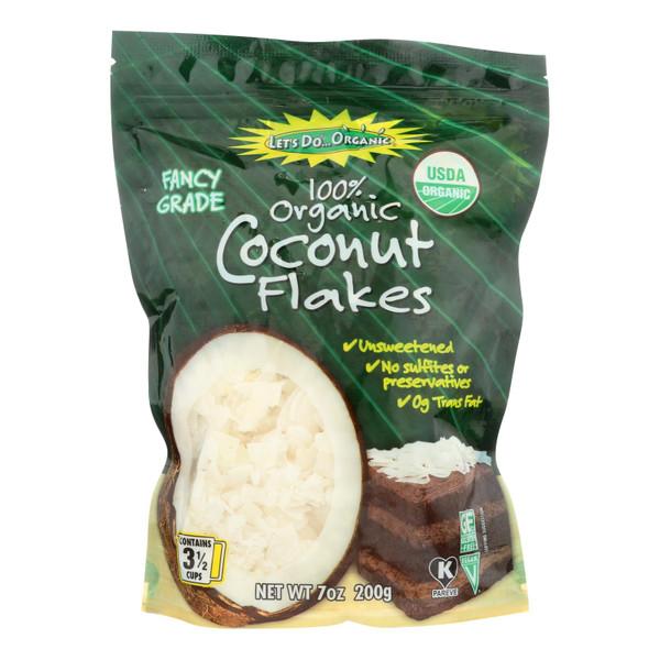 Let's Do Organics Coconut Flakes - Case of 12 - 7 oz.