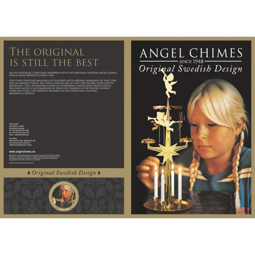 Angel Chimes-Brass Plated with 4x Candles