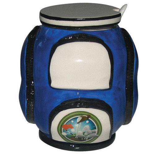 Golf Sugar Bowl with Spoon- Blue