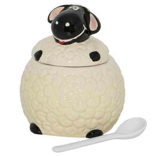 Sheep Pot with Lid & Spoon