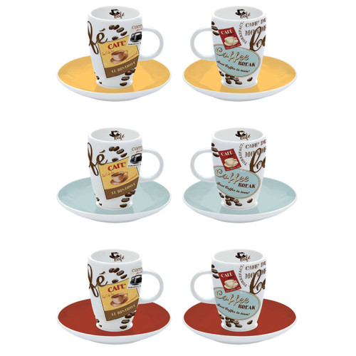 Vintage Expresso Cup/Saucers 6pc Set
