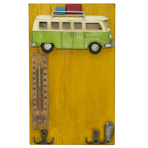 Green Campervan [Wall Hanging/Thermometer]