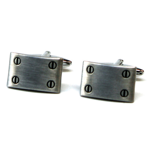 Silver Screw Cufflinks
