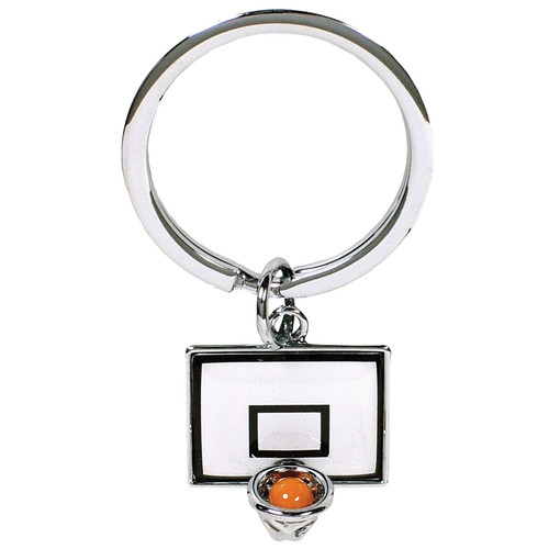 Basketball with Backboard Keyring