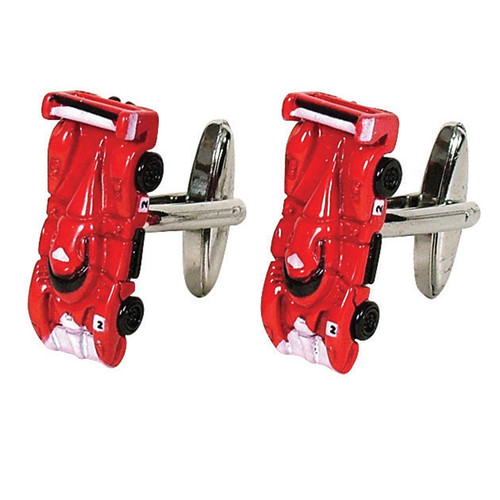Le Mans Race Car Cufflinks Red