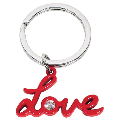 Love with Crystal Keyring