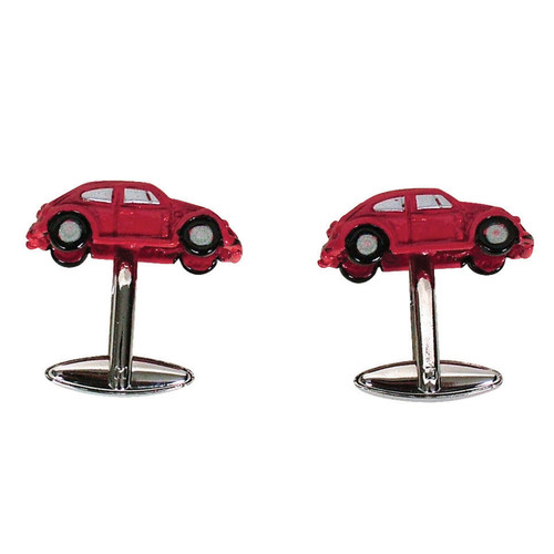 Peace Red Car Cufflinks