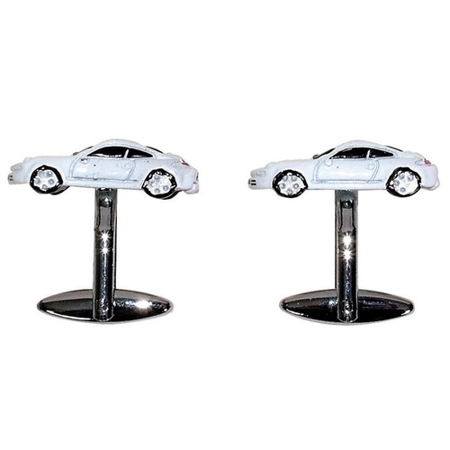 Porsche Car Cufflinks White