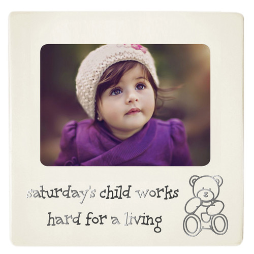 Baby Photo Frame - Saturday's Child