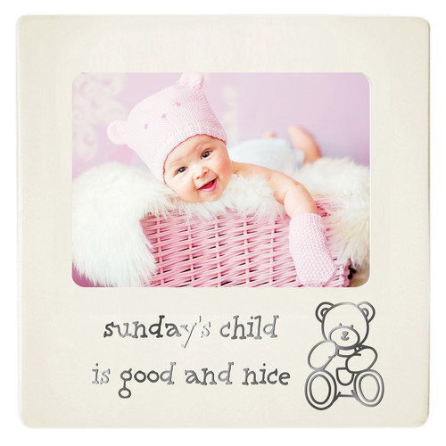 Baby Photo Frame - Sunday's Child