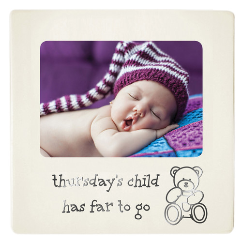 Baby Photo Frame - Thursday's Child