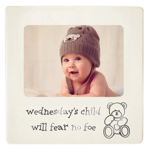 Baby Photo Frame - Wednesday's Child