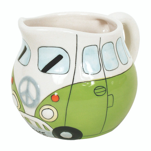 Peace Campervan Milk Jug - Green
