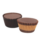 Smooth and creamy peanut butter meltaway centered between 2 layers of premium milk chocolate.