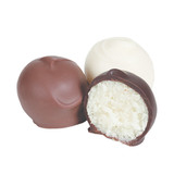 We make our Bonbon centers from scratch, hand-roll them and then dip in premium white chocolate.  They are crave-worthy!