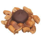 Freshly roasted and salted cashews, soft caramel and a dollop of premium milk chocolate.