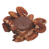 Best seller!  Freshly roasted and salted whole pecans, a dollop of soft caramel, topped with premium milk chocolate.