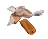 Buttery, soft caramel, sprinkled with sea salt and wrapped in waxed paper.