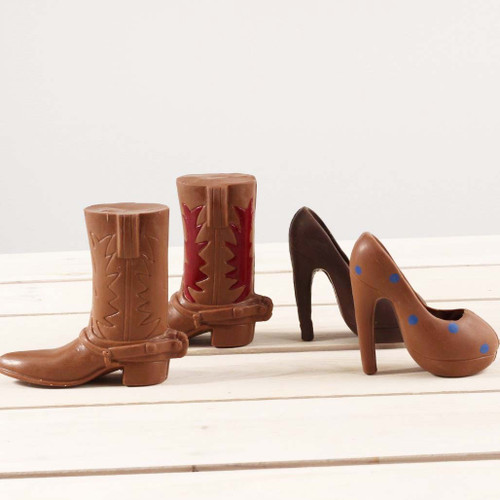 Chocolate Cowboy Boot or High Heel (small)
