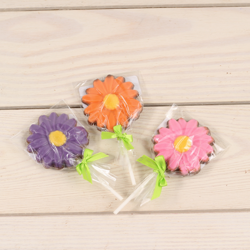 Set of 3 Chocolate Daisy Pops