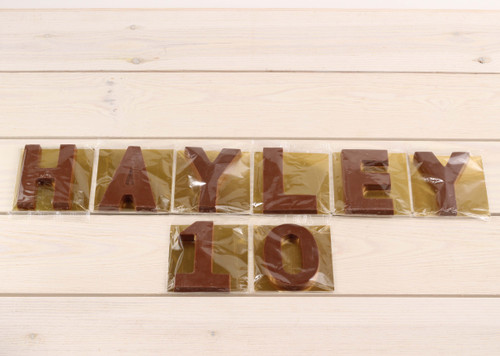 Milk Chocolate Numbers and Letters