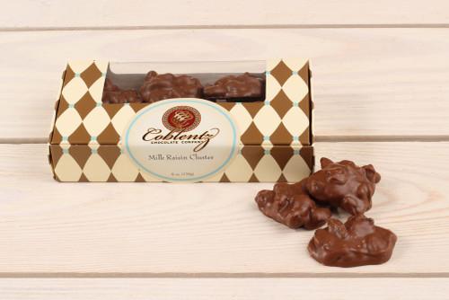 Milk Chocolate Raisin Clusters 6 oz.