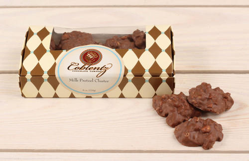 Milk Chocolate Pretzel Clusters 6 oz.