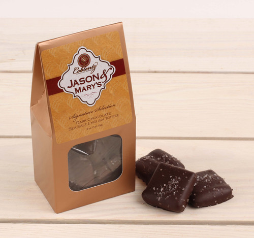 Jason & Mary's Signature Selection Dark Chocolate Sea Salt English Toffee
