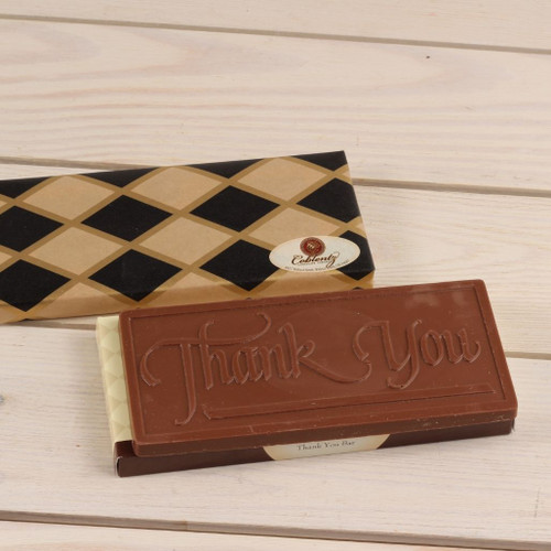 Milk Chocolate Thank You Bar Gift Wrapped
