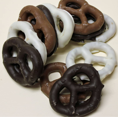 Dutch Pretzel Trio-Milk, Dark and White Chocolate