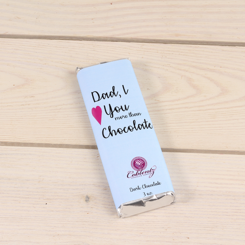 Dad, I Love You More than Chocolate Dark Bar