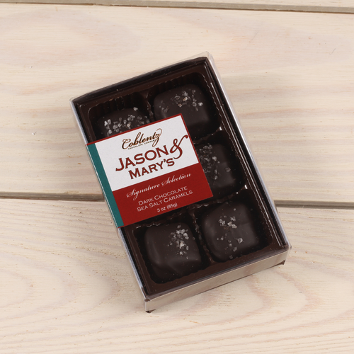 Dark Sea Salt Caramels-Jason & Mary's Petite Gift Box
