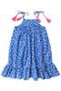 Sophie Catalou Girls Toddler & Kids Blue floral Dress 2-10y