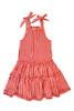 Sophie Catalou Girls Toddler & Kids Bandana Red Plaid Tiered Dress 2-10y