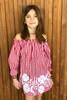 Sophie Catalou Girls Toddler & Kids Bandana Red Kara Dress 2-8y